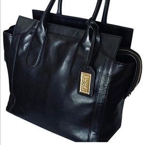 Badgley Mischka Black Leather Satchel